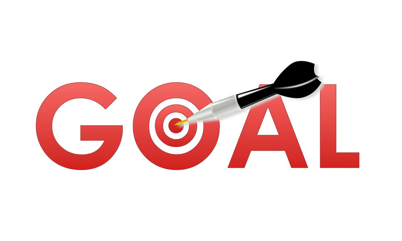 goal setting, goal, dart