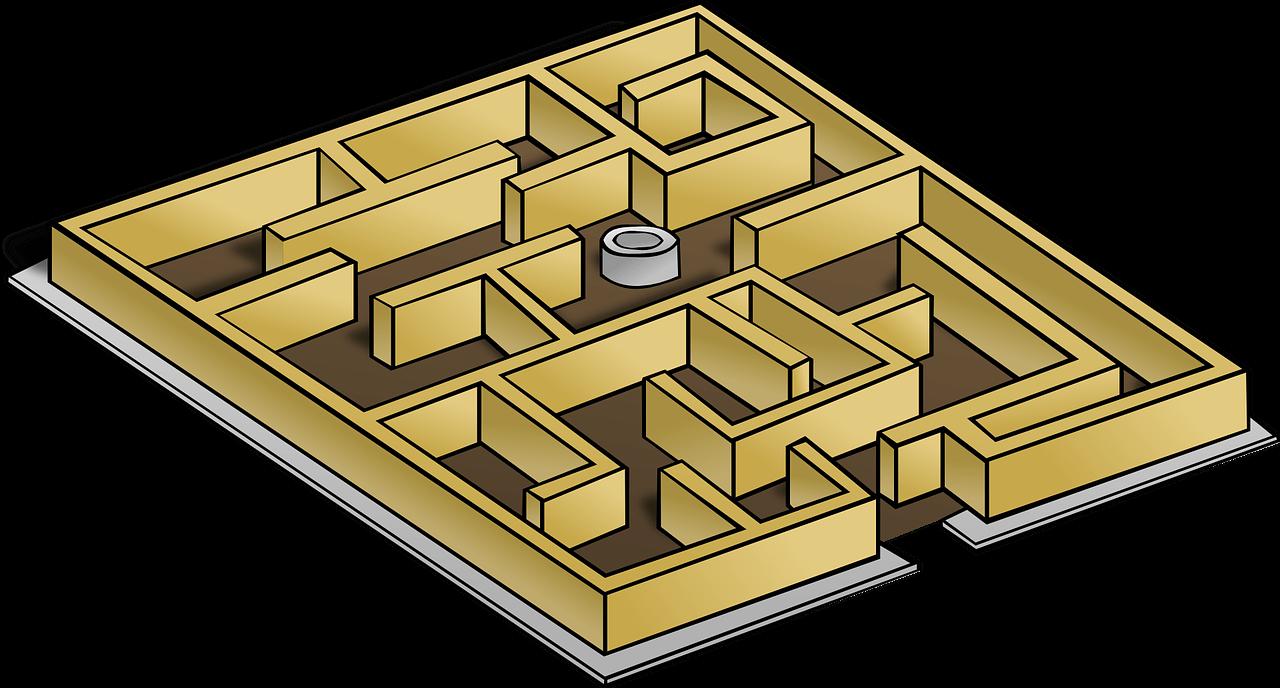 maze, game, lost